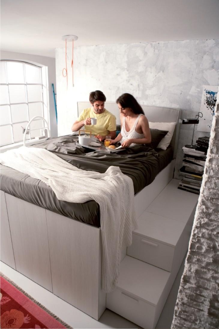 Letto Matrimoniale Soppalco Con Armadio Sotto.Container Modus Letto Matrimoniale A Soppalco
