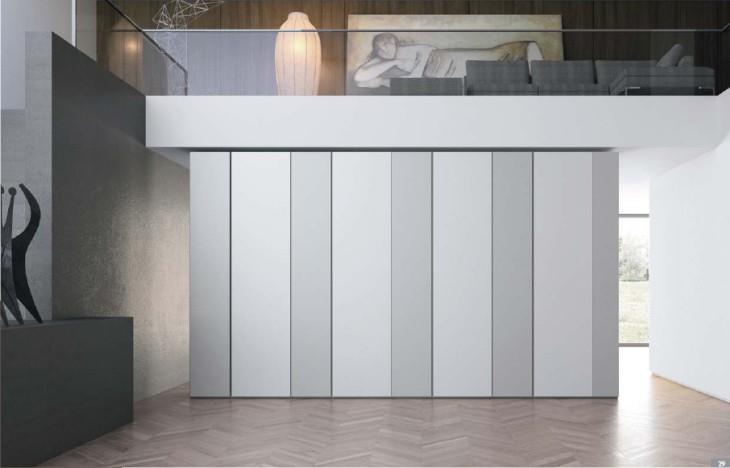 armadio lineare moderno per camera da letto
