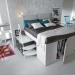 Container: un letto matrimoniale a soppalco
