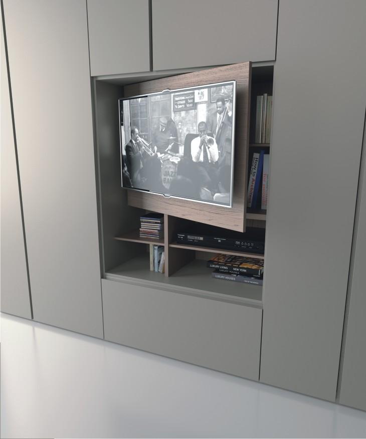 Armadio Grafik Caccaro con pannello TV