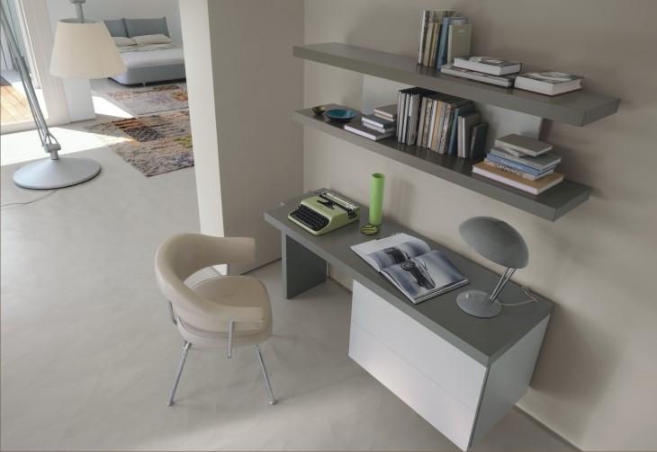 Scrittoio fildesk con cassettiera sospesa for Mensole moderne camera da letto