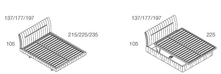 idees camera letto » misure letto king size - galleria design di ... - Letto Contenitore Super King Size