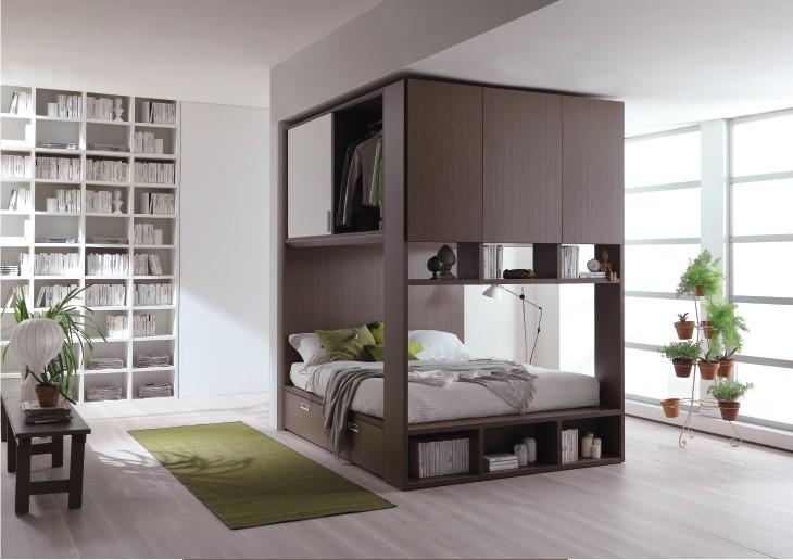 Ponte palafitta: sfruttare lo spazio sopra al letto