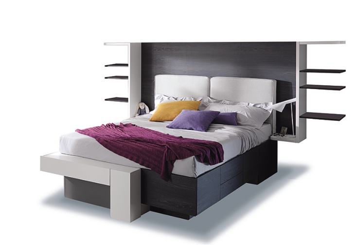 Cargo letto moderno con testiera imbottita for Cargo mobili milano