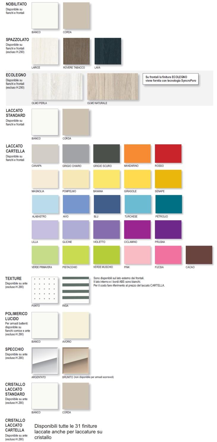 colori e finiture
