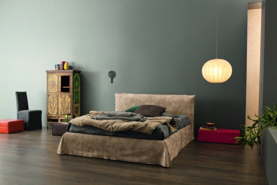 Letto matrimoniale in pelle Peter by Twils