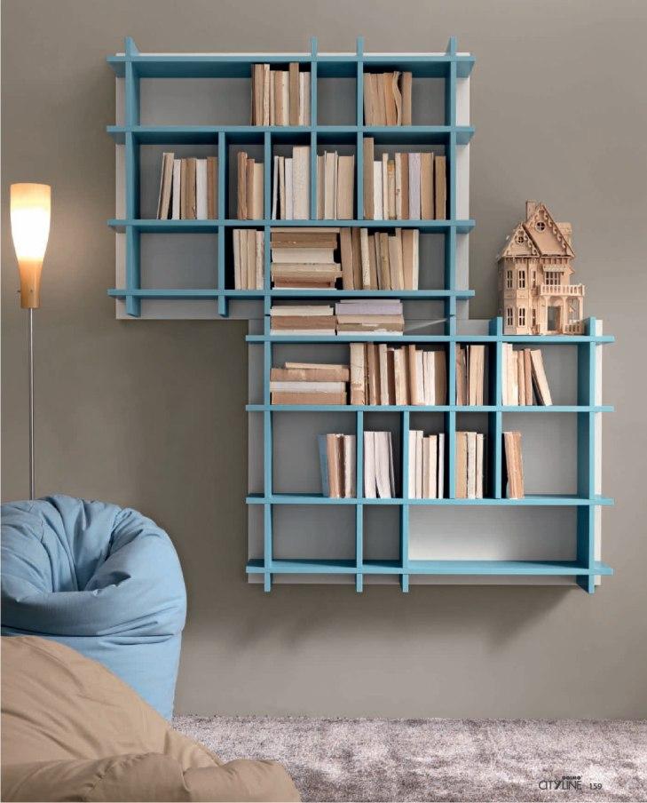 Libreria a parete domino - Libreria a parete ...