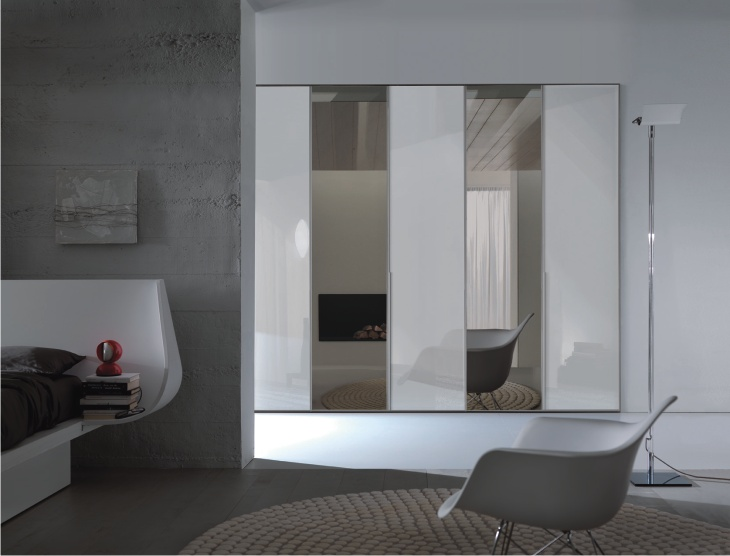 Armadio a specchio brunito Kristal – Dielle Modus