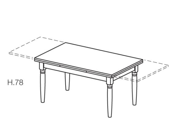 tavolo allungabile in legno massello scandola