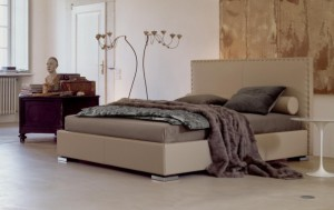 Ludwing letto matrimoniale in pelle